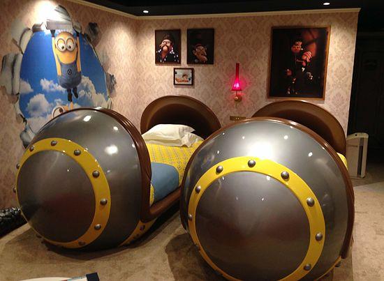 ミサイル型のベッド