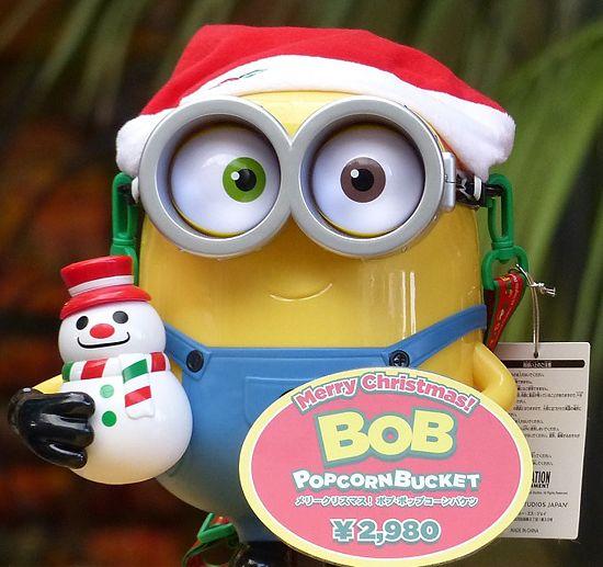 メリークリスマス!ボブ・ポップコーンバケツ
