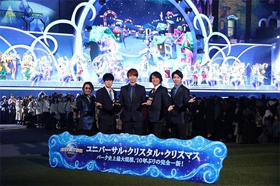USJユニバーサル・クリスタル・クリスマスの開幕セレモニー2019