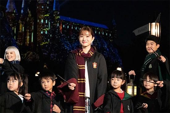 ハリポッターホグワーツ・マジカル・ナイトショー開幕セレモニー